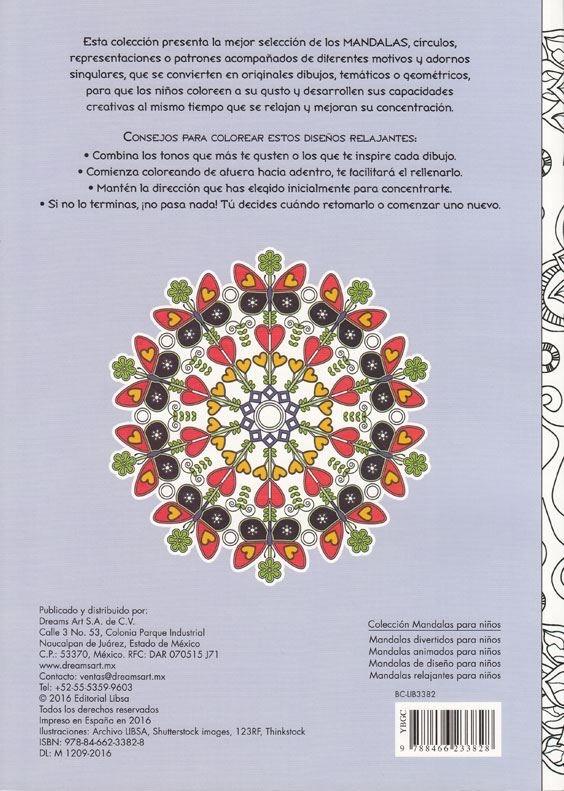 4 Libros Mandalas Para Colorear Diseño Para Niños Animados ...