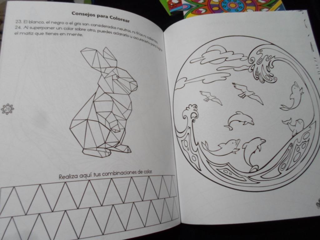 Mandala Para Colorear Animales: 4 Libros Para Colorear Mandalas Animales Naturaleza