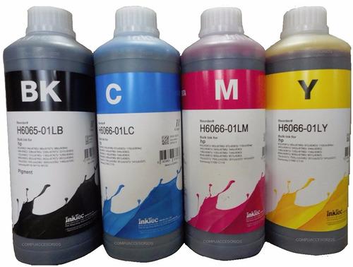 4 litros tinta inktec para hp cartuchos y tinta continua