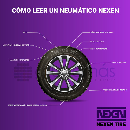 4 llantas 185/65  r14 nexen cp661 86h radial