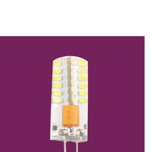 4 lâmpadas g4 3w 12v 48 led 3014 branco frio luminária