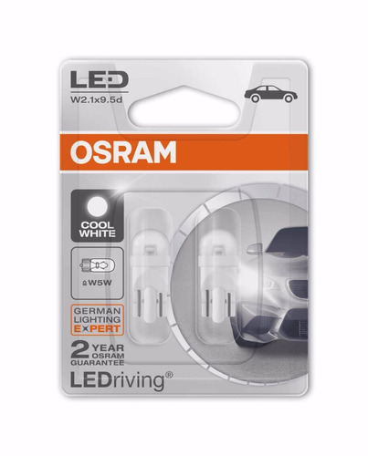4 lâmpadas t10 w5w 6000k pingo led osram lampled cool white