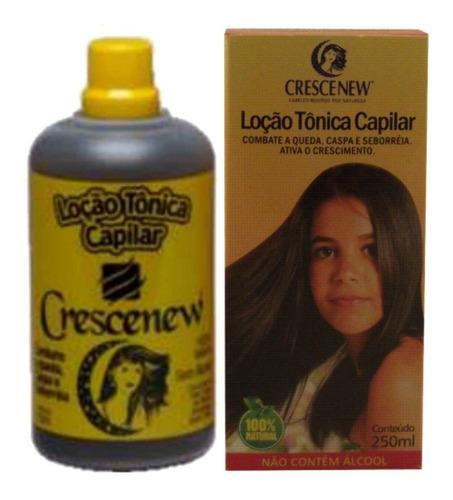 4 loção tônica capilar crescenew - antiqueda - anticaspa - seborreia