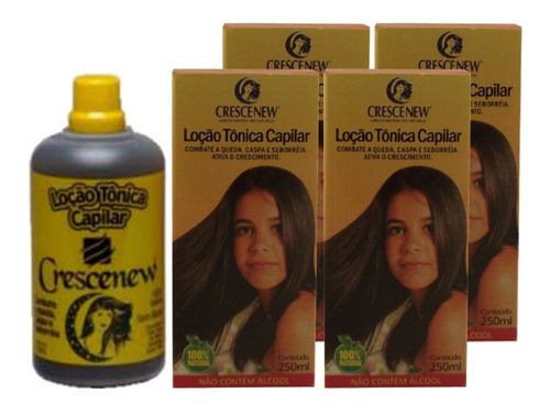 4 loção tônica capilar crescenew - jaborandi anti-queda