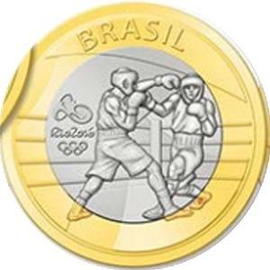 4° lote moedas rio tom+vinícius+boxe+natação paralímpicopara