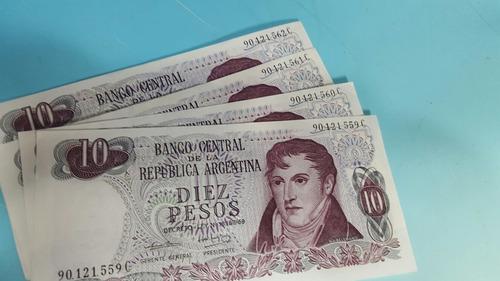 4 lotes de correlativos de $ 10 ley 18.188