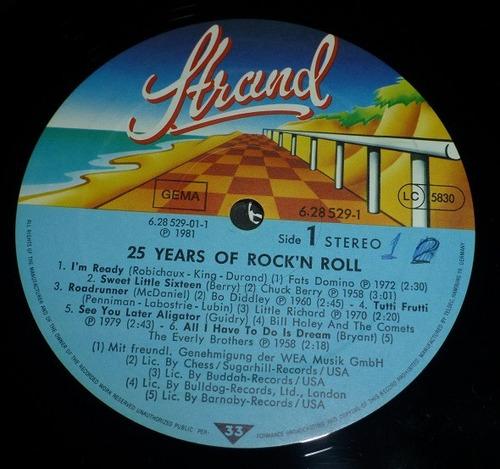 4 lps (2 vol) 25 años de rock n' roll importa alemania 34000