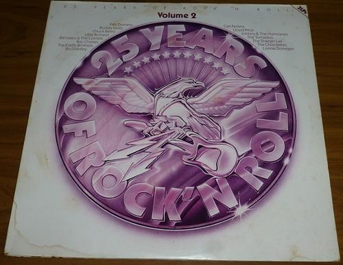 4 lps (2 vol) 25 años de rock n' roll importa alemania 48000