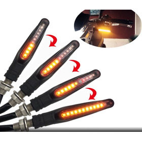 4 Luces Giros Guiños Faroles Led Secuenciales Impermeables