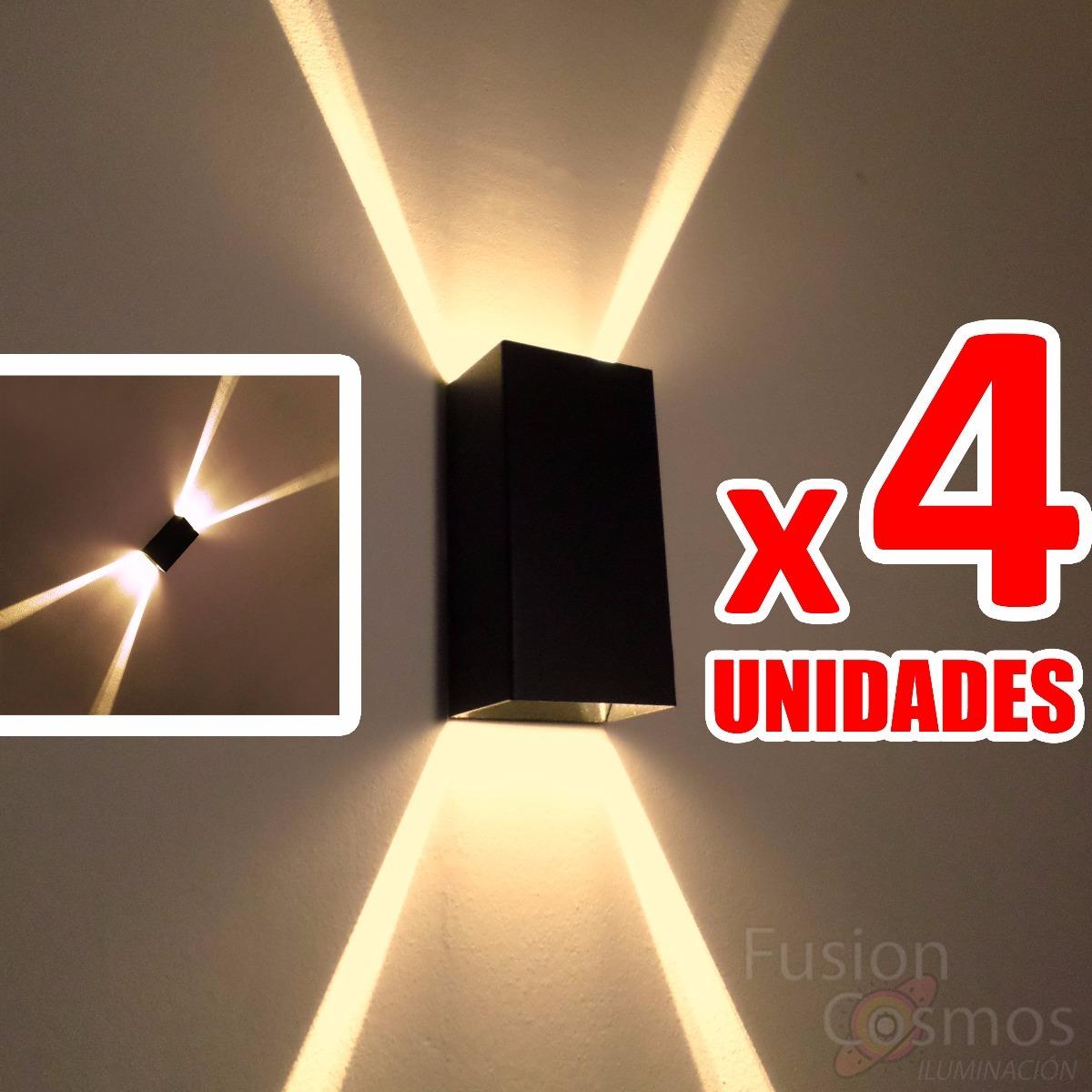 4 Luces Pared Navidea Luz Navidad Efecto Estrella Rayos X 1336
