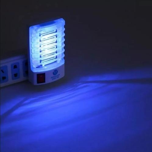 4 luminaria repelente elétrico led uv mata insetos mosquitos