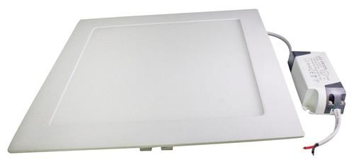 4 luminarias led 18w quadrado embutir teto forro de gesso