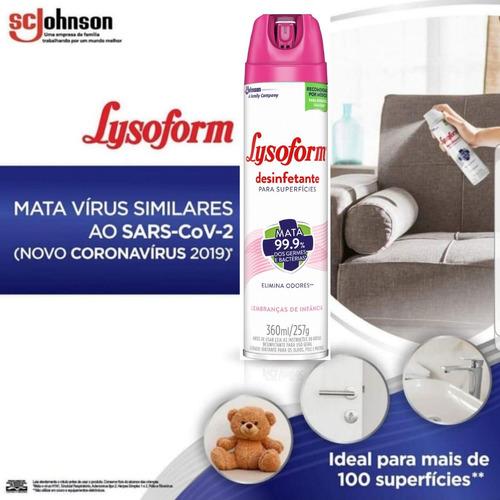 4 lysoform spray para limpeza prevenir doenças transmissão