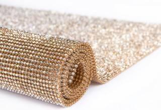 4 mantas strass dourada  11 x 1,20 m promoção