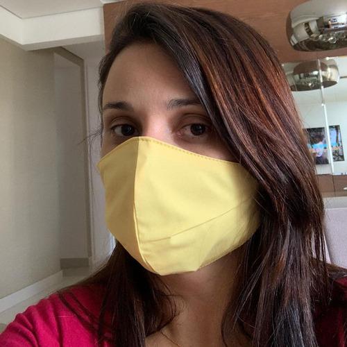 4 máscara tecido facial proteção rosto dupla camada lavável