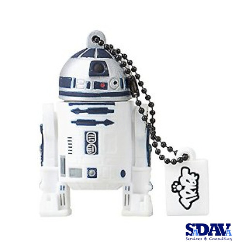 4 memorias usb tribe star wars r2-d2 8gb