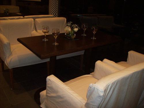 4 mesas  bar 1,20 x 60 c/ regrueso 3 c, p/ central de hierro