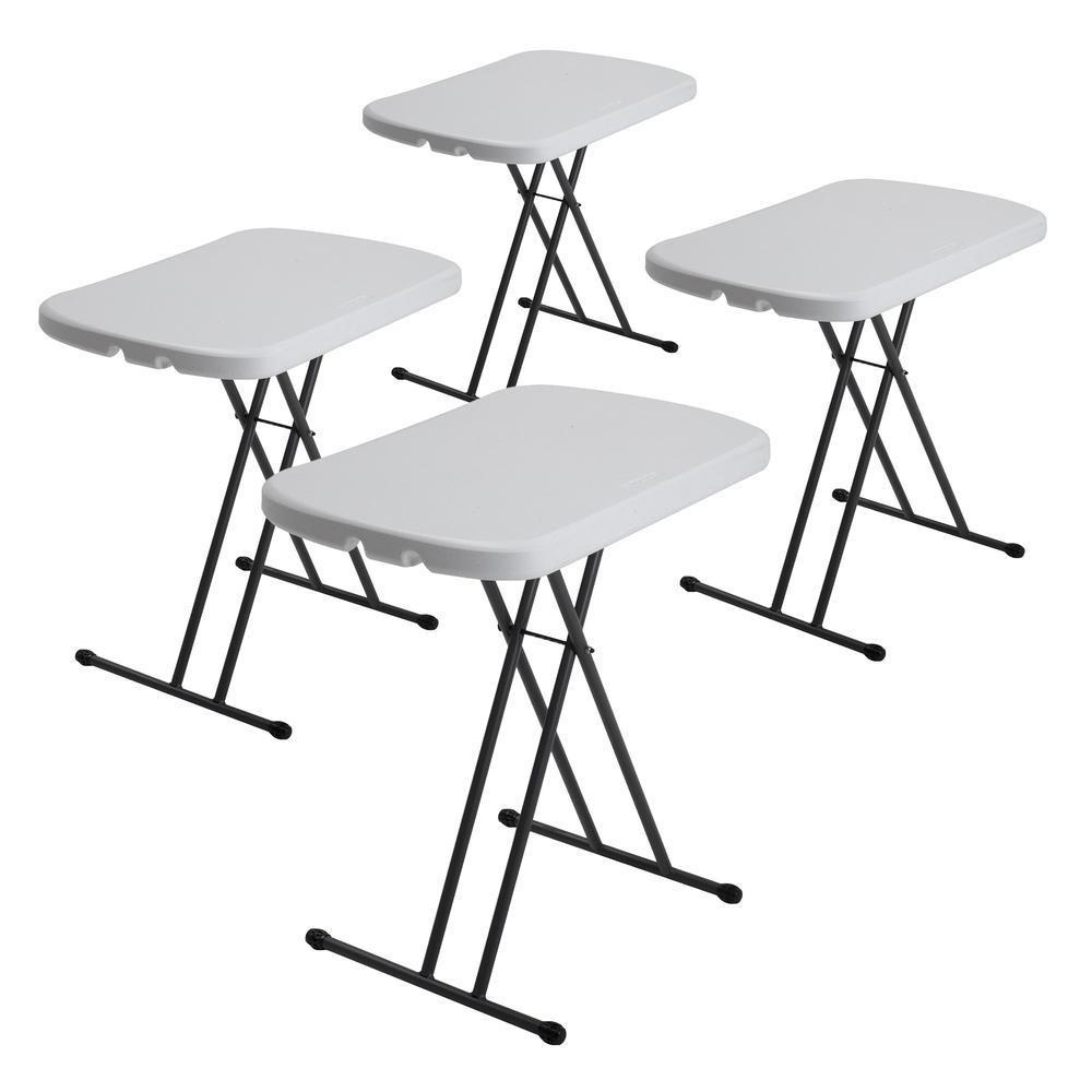 4 mesas plegables rectangular 26 blanca lifetime 2 en mercado libre - Mesas de comedor plegables ...