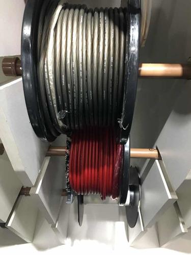 4 metros de cabo rockfordfosgate vermelho/ preto 8awg