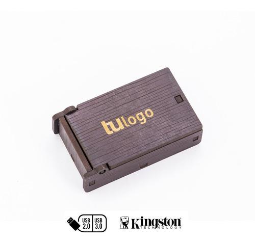 4 mini estuches para pendrive con grabado. sumapack