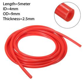 ID de 4mm X 8mm Od Rojo 100cm Silicona Vacío Manguera Tubo Tubo Línea Boost 6 P Clips