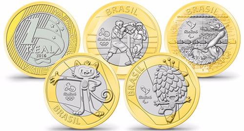 4 moedas olimpíadas avulsas