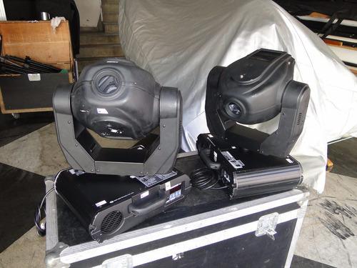 4 moving head 575 oby 5 com gobos giotto + 2 case .+ pilot