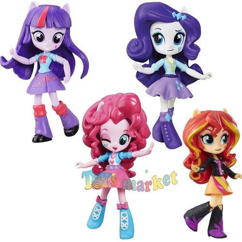 4 muñecas equestria girls my little pequeño pony de hasbro