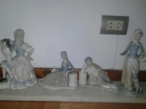 4 muñecas españolas porcelana