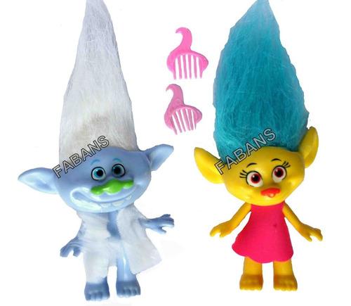 4 muñecos trolls grandes juguetes poppy branch ramon niña