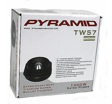 4) nueva pirámide pro tw57 3 4000w car audio domo bala