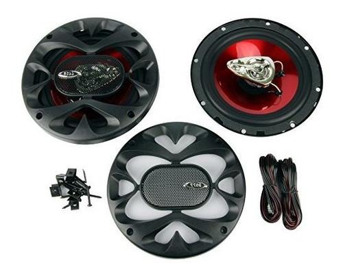 4) nuevos altavoces estéreo coaxiales boss ch6530 6.5plg 3 v