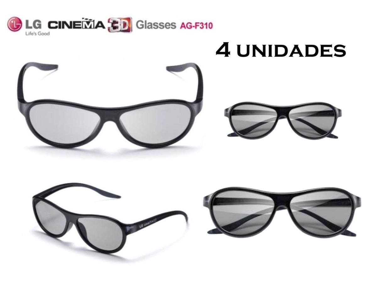074fb2bbe3444 4 Óculos Cinema 3d Lg Ag-f310 - R  87,90 em Mercado Livre