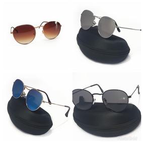 a803dd3f0 Oculos Masculino Redondo Espelhado De Sol Outras Marcas - Óculos no ...