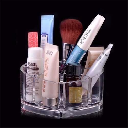 4 organizador acrílico coração p/batom acessórios  maquiagem