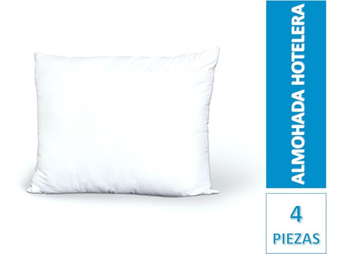 4 pack almohada hotelera good night 2 estandar + 2 king size