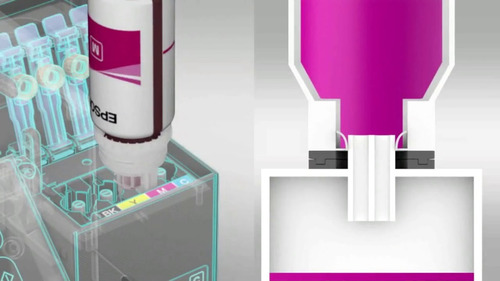 4 pack botella tinta epson t544 para l3110 ecotank ecofit