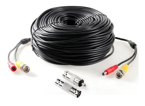 4 pack cable siames c/conectores bnc hembra a macho 60 mts