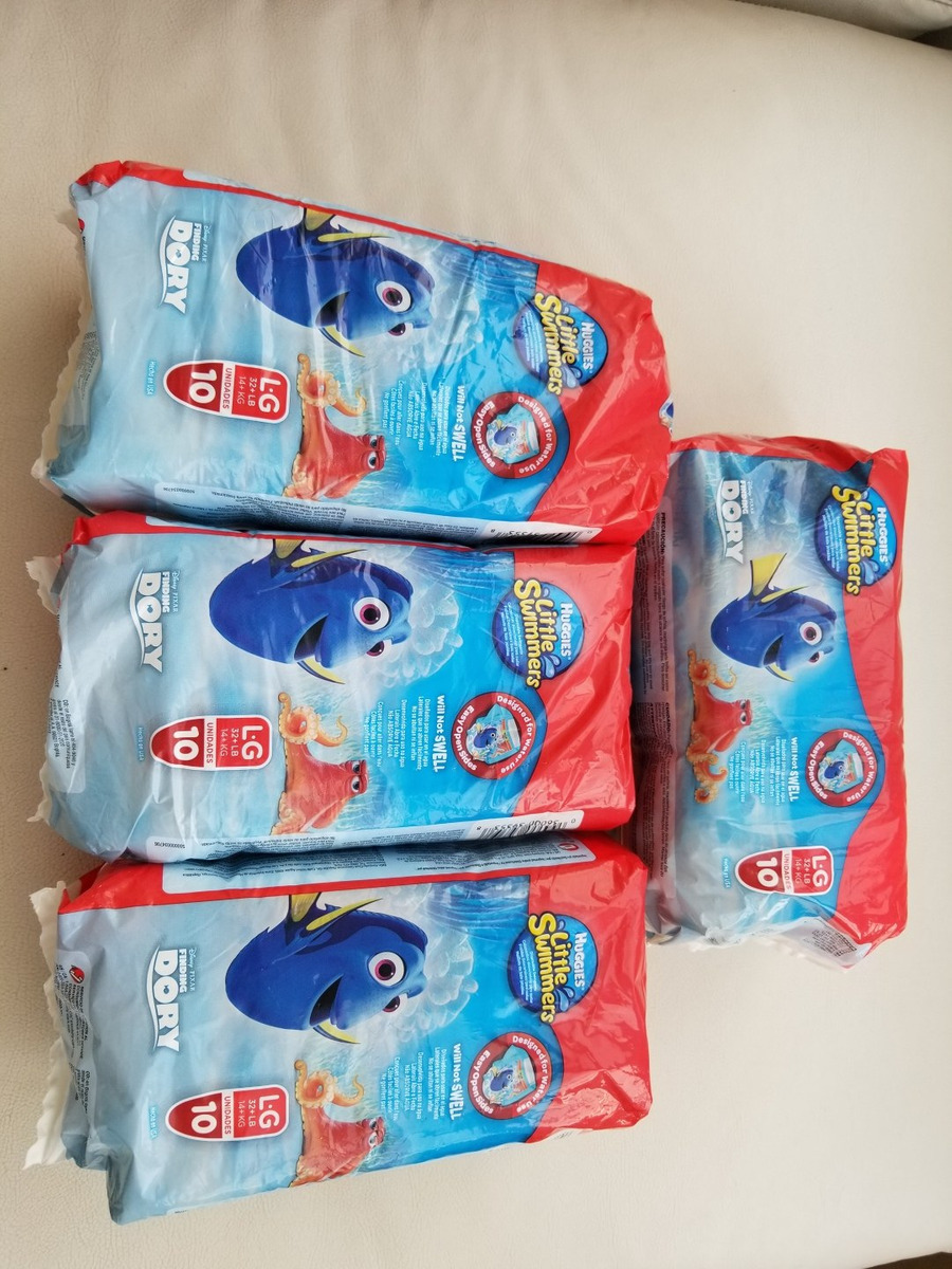 c3fb43272 4 pack de 10 pañales agua huggies little swimmers talle l g. Cargando zoom.
