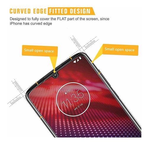 4 pack sparin protector de pantalla para moto z4 vidrio temp