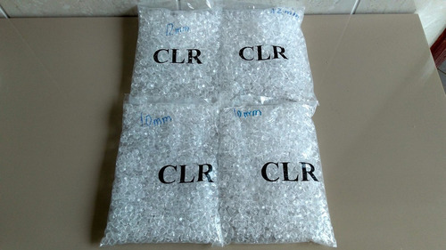4 pacotes e pedrarias acrílico cristal 500grs 2x12mm 2x10mm