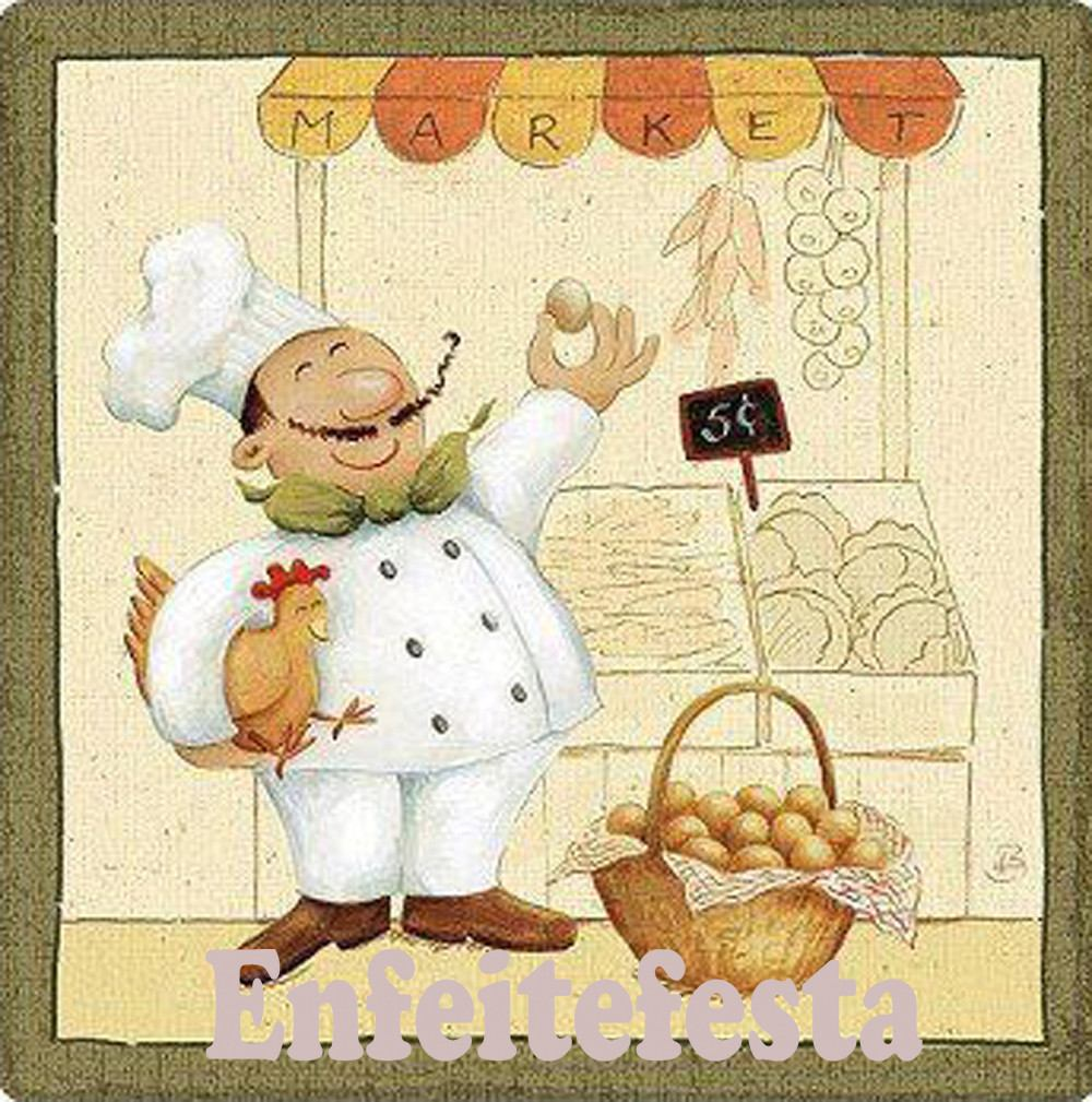 Fat Chef Painting