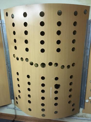 4 paneles fonoabsorbentes para acustizar lana de vidrio