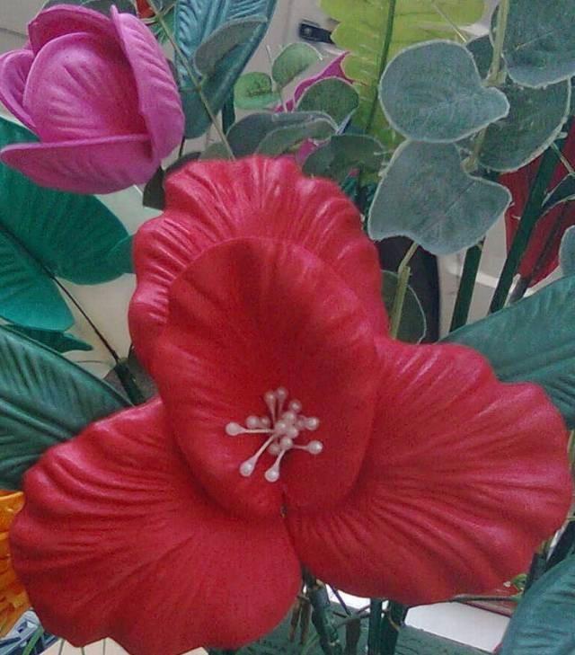 4 Pares D Moldes P Flores Con Goma Eva Orquidea Y Tulipanes 230