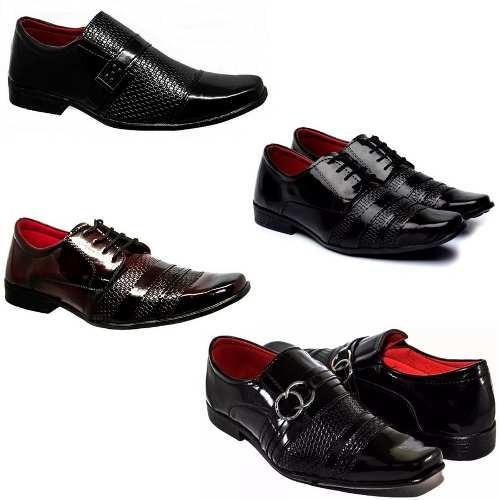 a3897411b 4 Pares Sapatos Sociais Verniz 3 Pto 1 Verm 5012/5014/5015 - R$ 189 ...