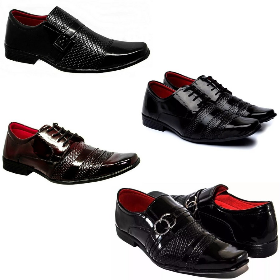 25509c4dd 4 pares sapatos sociais verniz masculino mdfiel frete grátis. Carregando  zoom.
