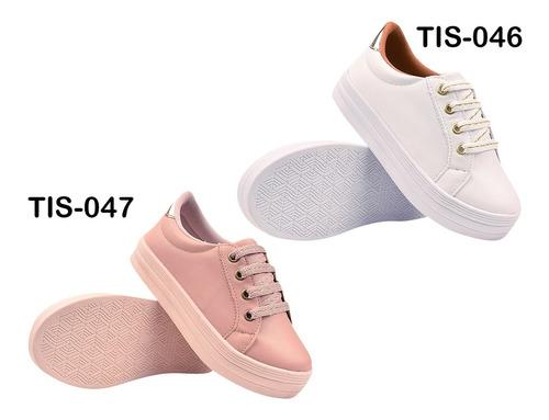 4 pares tênis feminino casual infantil sapatênis eleganteria