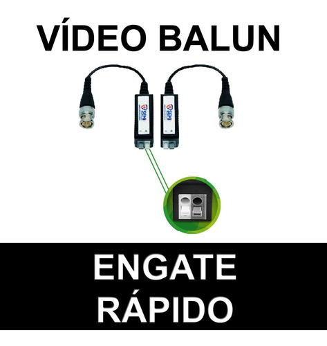 4 pares video balun hd engate rápido para dvr camera cftv