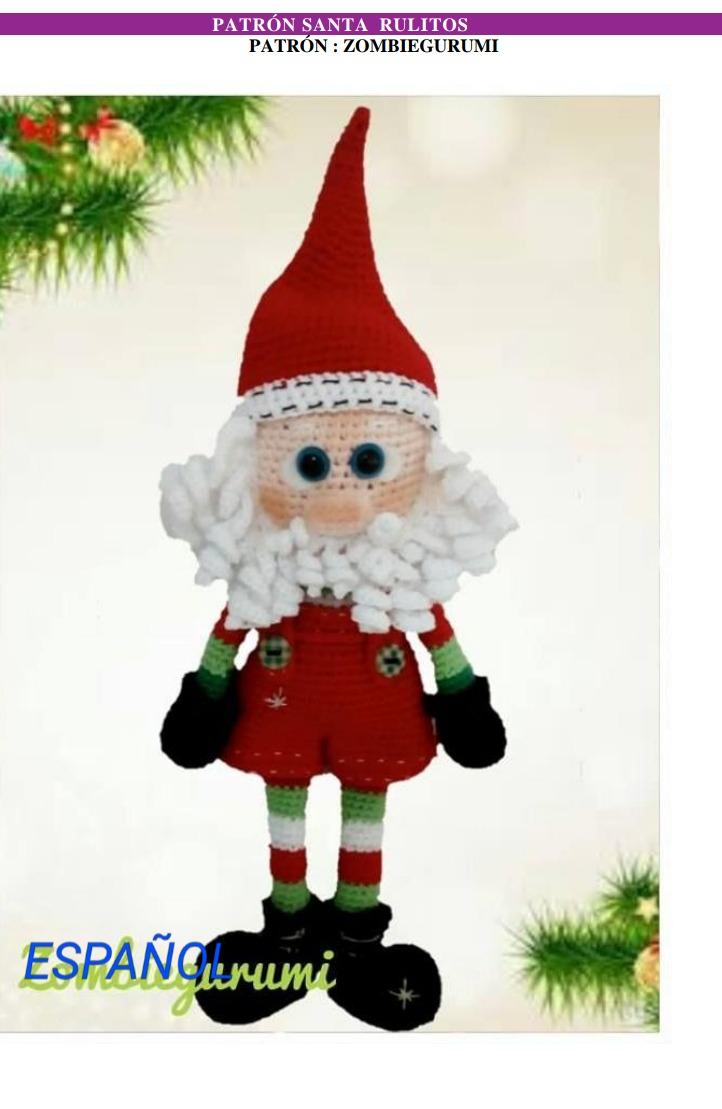 4 Patrones Crochet Navidad Papa Noel Elf - $ 100,00 en Mercado Libre