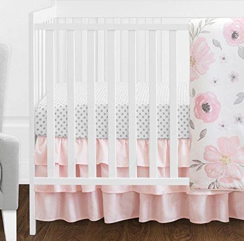 4 pc blush rosa color gris y blanco acuarela floral niña be
